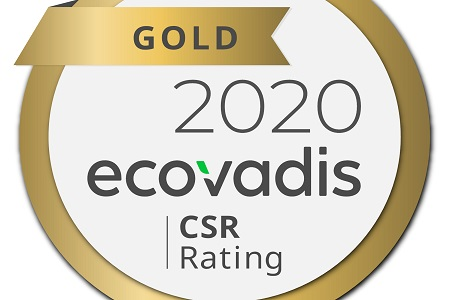 Gold CSR rating achieved by distributor